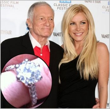 Hugh Hefner and Crystal Harris when they were together
