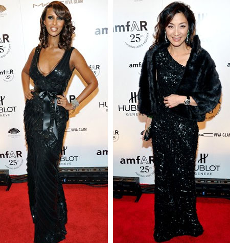 Iman and Michelle Yeoh in Elie Saab