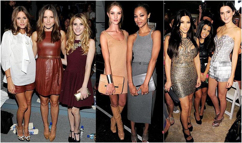 Olivia Palmero, Sophia Bush and Emma Roberts, Rosie Huntingdon-Whitely and Zoe Saldana and Kim, Kourtney Kardashian with Kendal Jenner