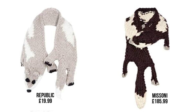 Republic's animal scarf vs Missoni