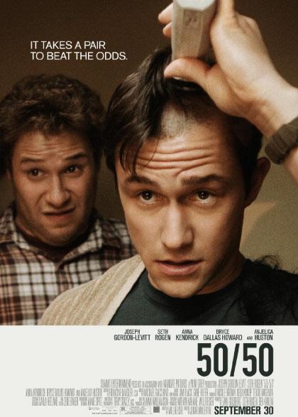 Seth Rogen and Joseph Gorden-Levitt in 50/50