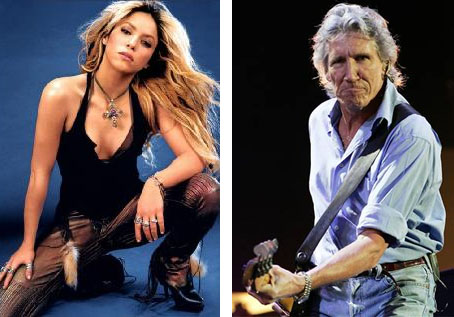 Shakira and Pink Floyd's Roger Walters