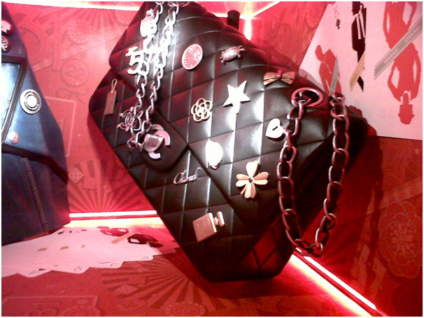 The giant Chanel 2.55 bag in Harrods