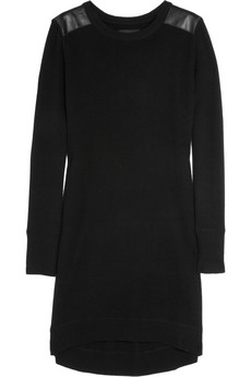 Zadig & Voltaire Pie leather-paneled wool-blend sweater dress