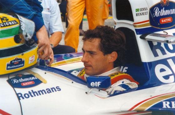 Ayrton Senna in action