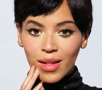 Beyonce with her 60s flick