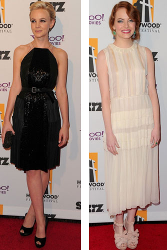 Carey Mulligan and Emma Stone