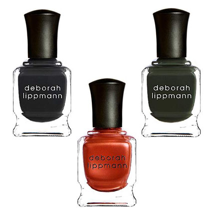 Deborah Lippmann Nail Laquer in Stormy Weather, Brick Lane and Billionaire