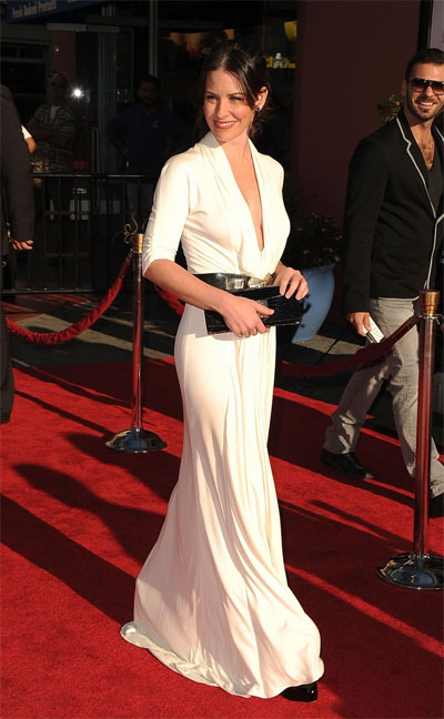 Evangeline Lilly at the Real Steel premiere