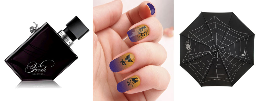 Illamasqua Freak, Rebel Nail wraps and the Lulu Guiness Spider Web Umbrella