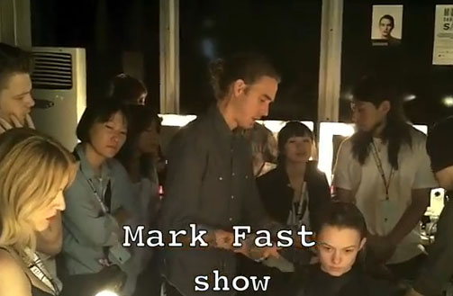 James Pecis at work for Mark Fast SS12