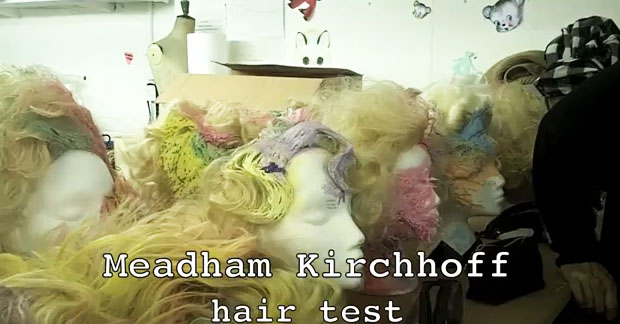 James Pecis' wigs for Meadham Kirchoff
