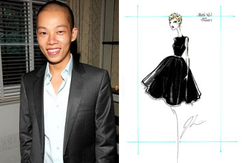 Jason Wu and his first sketch for the Target collection