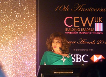 Joan Collins at the CEW Awards last night
