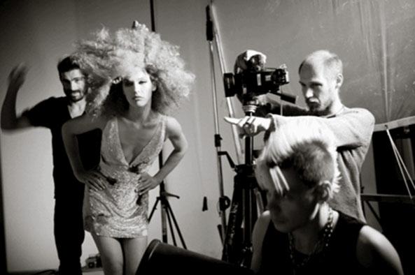 Milla Jovovich on-set at the shoot for the 2012 Campari Calendar