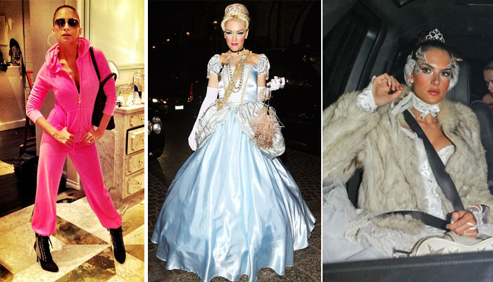 Nicole Richie as J-Lo, Gwen Stefani as Cinderella and Alessandra Ambrosio as the White Swan