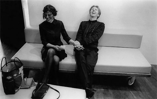 Photograph of Philip Treacy and Isabella Blow ( also by Kevin Davies)