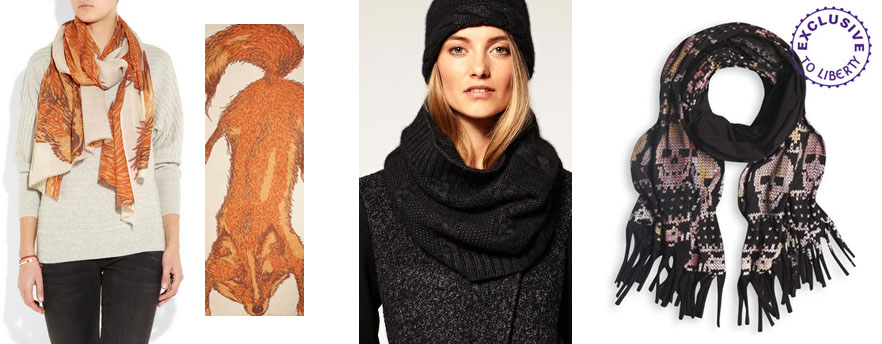 Scarves - Yarnz, Ted Baker Snood and Simeon Farrar