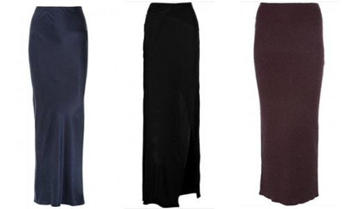 The Maxis (l-r) - T by Alexander Wang, Helmut Lang and Elizabeth and James