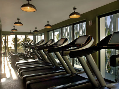 The gym in Soho House Miami