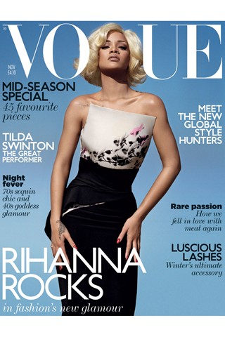 Rihanna on the Vogue November 2011 Cover