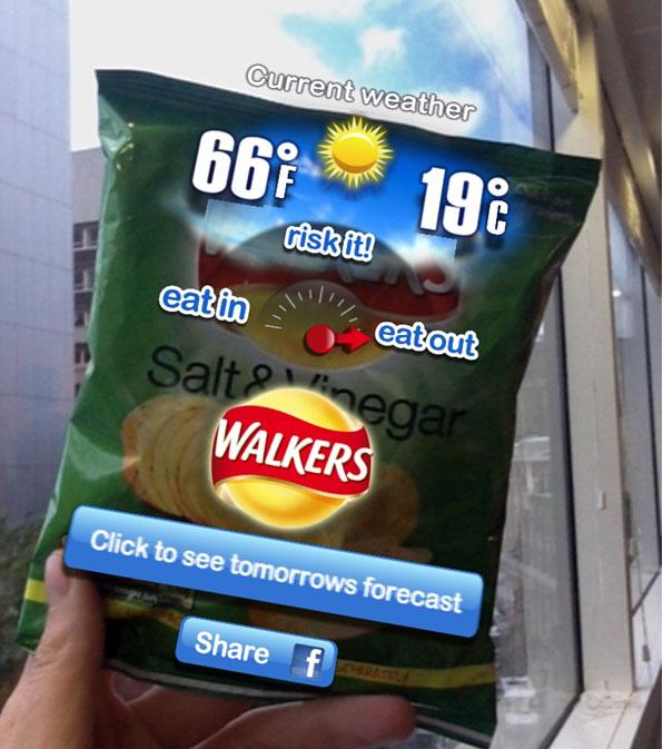 Walkers Blippar App