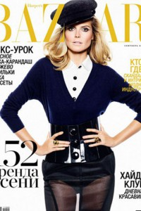 Heidi Klum covering Harper's Bazaar with the popular Louis Vuitton cap