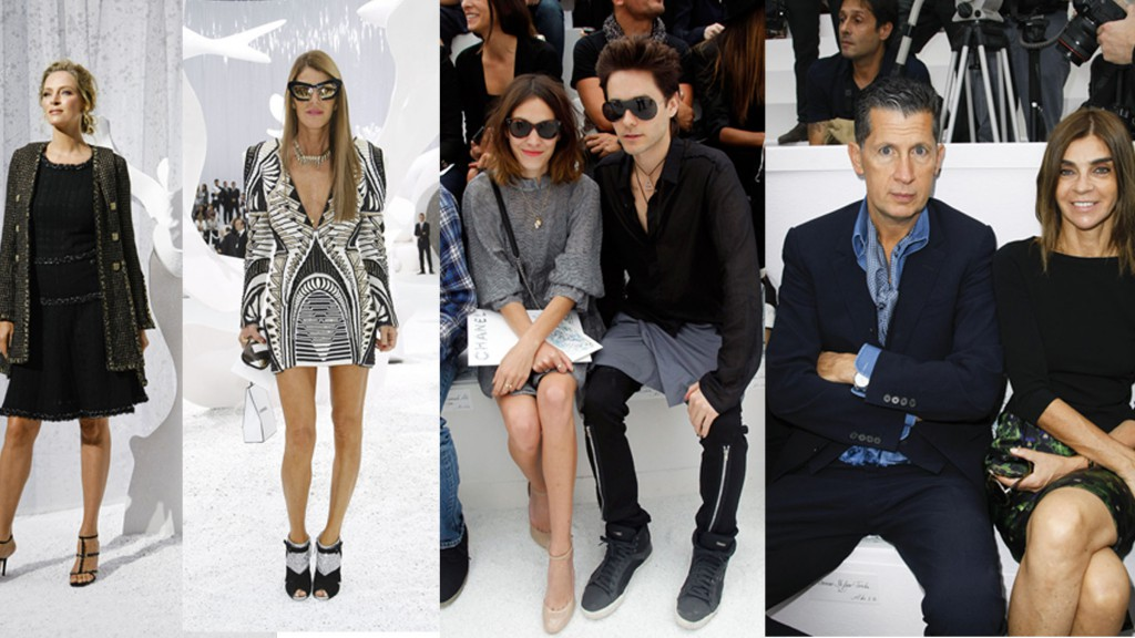 Stars at the Chanel S/S 2012 Collection
