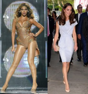 Beyonce Knowles and Kate Middleton are famous for wearing pantyhose
