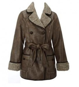 Matalan A/W 11 Faux fur collared coat