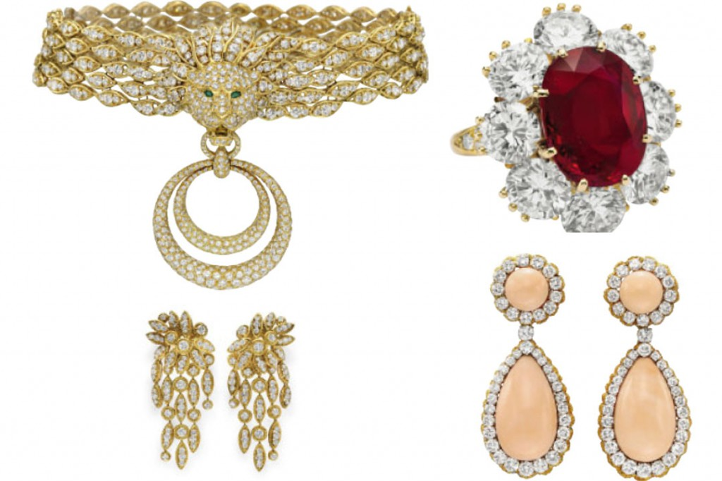 Jewels from Elizabeth Taylor's collection