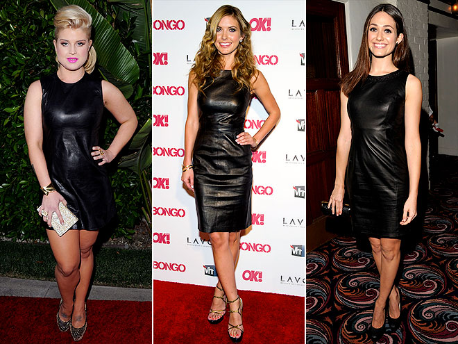 Kelly Osbourne, Audrina Patridge and Emmy Rossum clad in leather sheaths