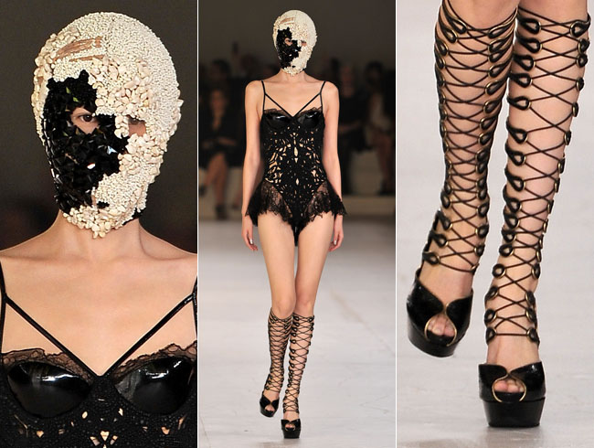 Fetish inspired looks Alexander McQueen S/S 2012 Collection