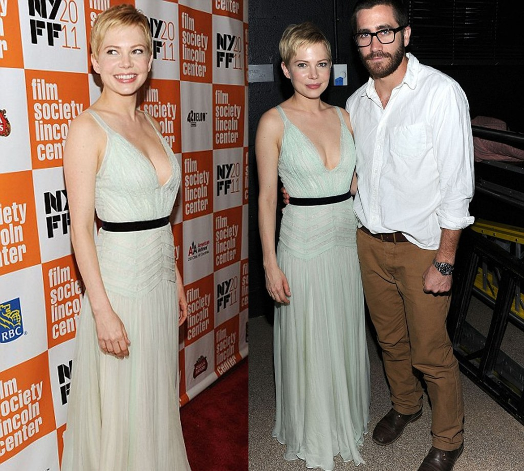 Michelle Williams and Jake Gyllenhaal at the NY premier of My Week with Marilyn