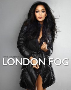 Nicole Scherzinger modelling in London Fog ads