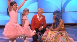 Super fans Sophie Grace and Rosie McClelland on the Ellen show meeting Nicki Minaj