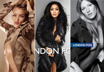 Rosie Huntington-Whiteley, Nicole Scherzinger and Gisele Bündchen clad in trench coat ads