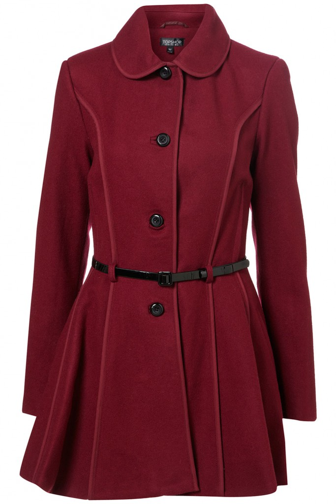 Topshop Exposed Seam Skirted Coat £98.00