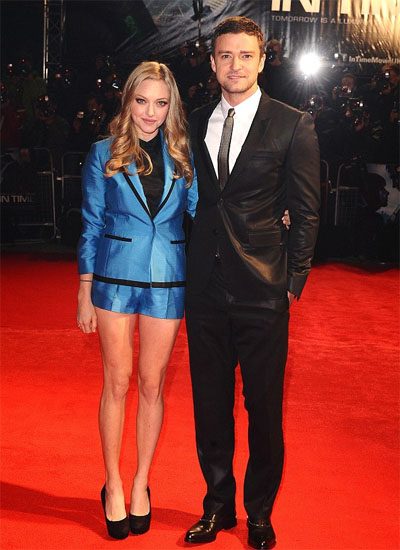 Amanda Seyfried and Justin Timberlake at the In Time London premiere
