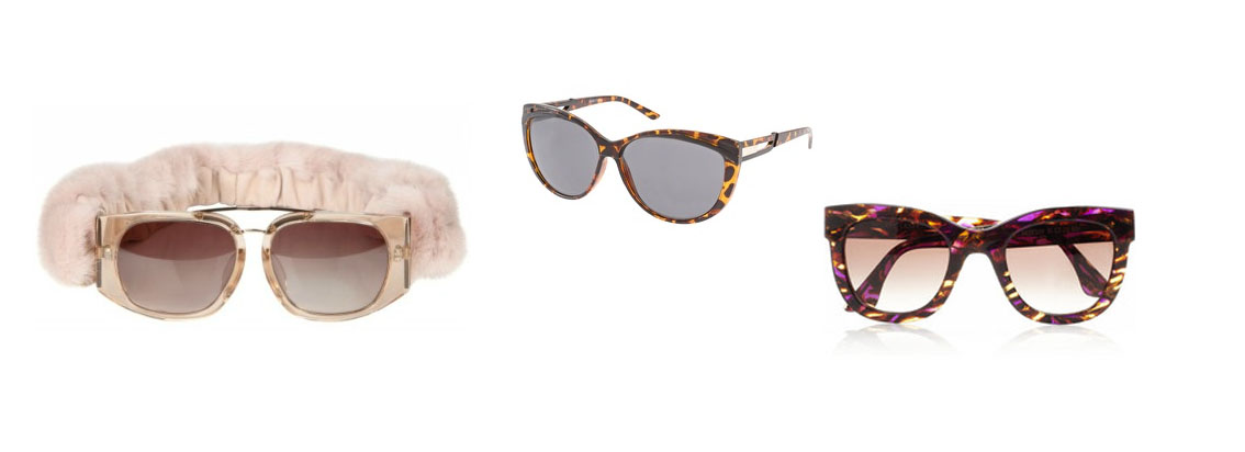 Autumn Sunglasses (l-r) - Alexander Wang, ASOS Tortoise Cat Eye and Thierry Lasry
