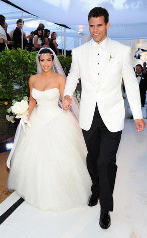 Kim Kardashian and Kris Humphries at their wedding