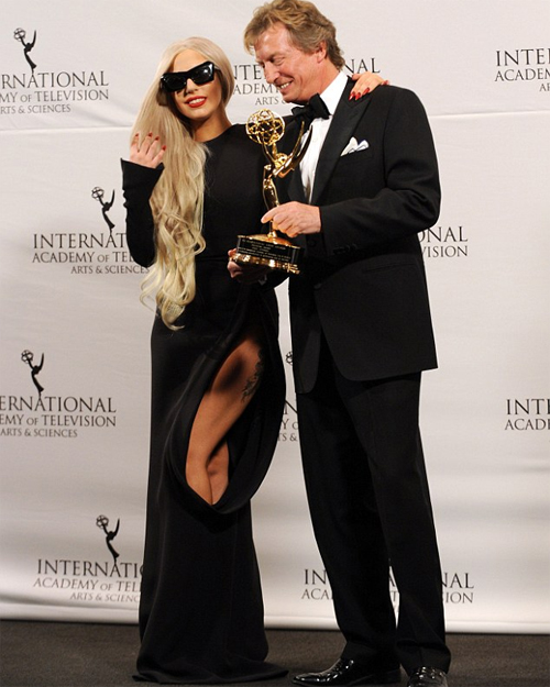 Lady Gaga with Nigel Lythgoe
