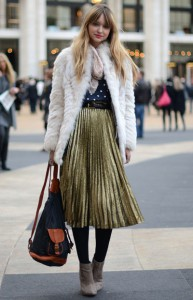 Pleated skirts are a favourite wardrobe choice on and off the runway