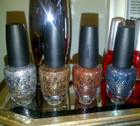 OPI colours for the Glitterati mani/pedi at The Beauty Lounge