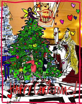 Plans for Lanvin's (Albert Elbaz) Claridges Christmas Tree