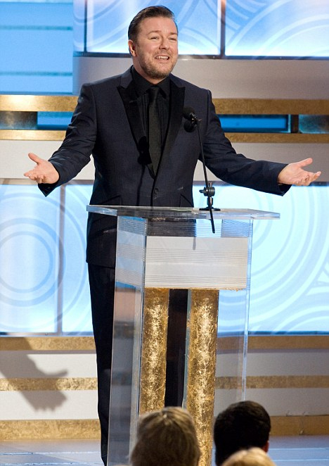Ricky hosting a previous Golden Globes ceremony