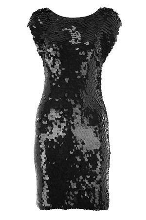 Sequin Crochet Shift Dress