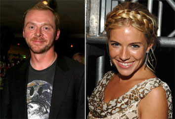 Simon Pegg and Sienna MIller