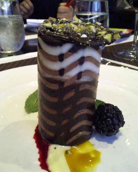 The Chocolate Tower dessert at the 360 restaurant