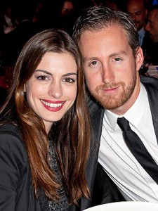 Anne Hathaway and her fiance Adam Shulman